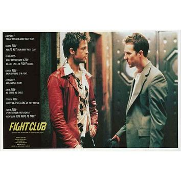 Fight Club Rules Movie Poster 24x36