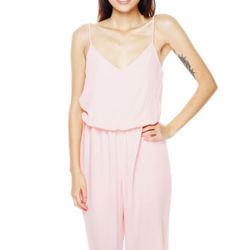 Whirlwind Cropped Jumpsuit - Pink