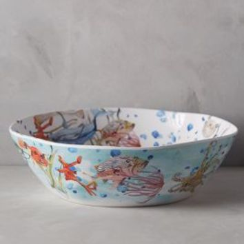 Under The Sea Melamine Serving Bowl by Voutsa Multi Serving Bowl Serveware