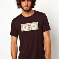 Paul Smith Jeans T-Shirt with Dollar Note at asos.com