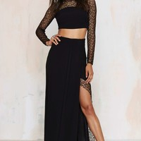 Foxiedox Let Me Lace You Maxi Skirt