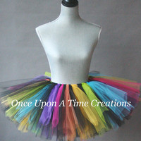 Rainbow Punk Rock Tutu - All Sizes - Newborn Baby 3 6 9 Months 12M 2T 3T 4T 5T 6 7 8 10 12 Adult ... First Birthday, Halloween Costume