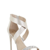 Neutral BCBG Elyse High-Heel Crisscross Ankle Day Sandal