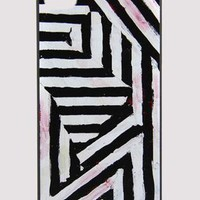 Irregular Black And White Stripes Cellphone Case for Iphone4
