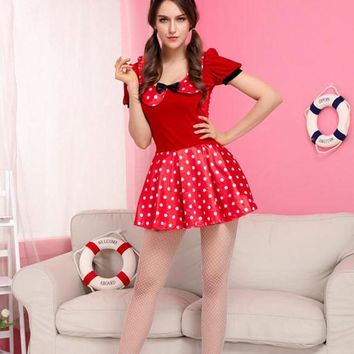 Ensen Halloween sexy minnie mouse kigurumi  Cosplay Costume luxurious red infantile adult minnie mouse fancy carnaval dress