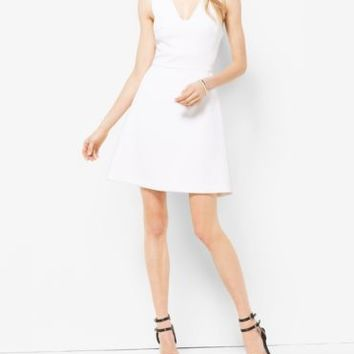 Stretch Fit-and-Flare Dress | Michael Kors