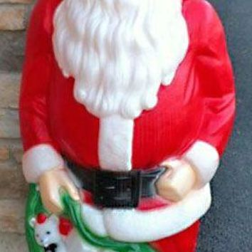 Large Giant Santa Claus , Lighted Plastic Blow Mold, Light Up Outdoor Yard Christmas Decoration