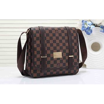 LV Hot Selling Fashion Fuyin Lady's Single Shoulder Bag Coffee lattice