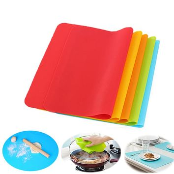 Silicone Mat Baking Dish Liner Best Oven Heat Insulation Pad Non-stick Thick Pad Mats