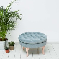 Tufted Grey Stool - Urban Outfitters