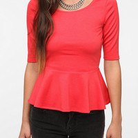 Urban Outfitters - Pins and Needles Ponte Knit Peplum Top