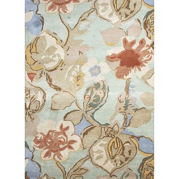 Jaipur Blue Petal Pusher Area Rug