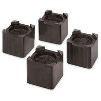 Whitmor Wood Bed Risers - Set of 4 - Espresso
