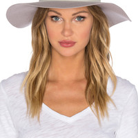 Downtown Wide Brim Fedora in Oyster