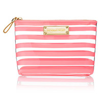 Coral Stripe Medium Cosmetic Bag - Victoria's Secret - Victoria's Secret