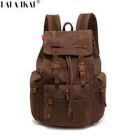 New Vintage Canvas Backpack Leisure Travel School Bag