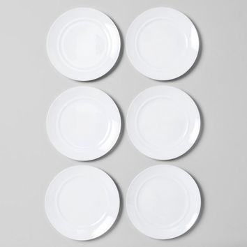 "10"" Glass Dinner Plate White - Room Essentials™"