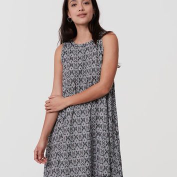 Floral Mosaic Swing Dress | LOFT