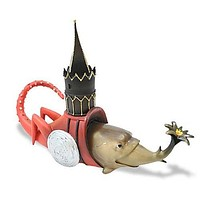 Fish With Tower Fantasy Creature Figurine by Hieronymos Bosch 6L