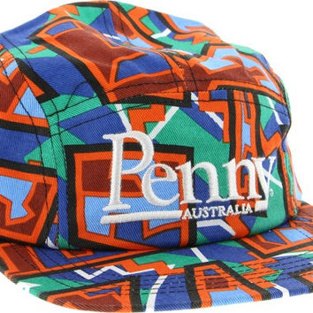 Penny 5 Panel Hat Adjustible Spike Orange/Blue/Green
