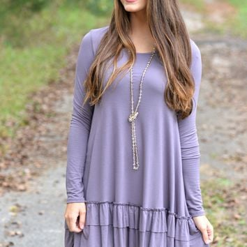 Double the Fun Purple  Ruffle Top