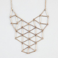 Full Tilt Statement Lattice Bar Necklace Gold One Size For Women 24279962101