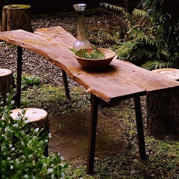 Rustic Tivoli Table Outdoor Dining Salvaged by grayworksdesign