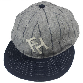 FH x Ebbets Field Fitted Cap - Grey Stripes