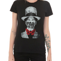 Alice In Wonderland Mad As The Hatter Girls T-Shirt
