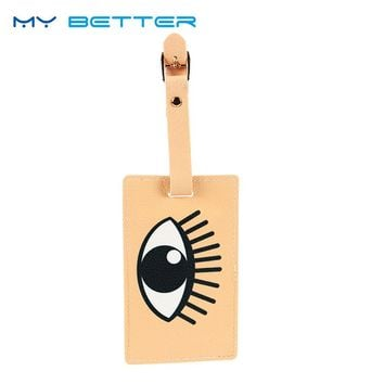 Cartoon Eye Luggage Tag
