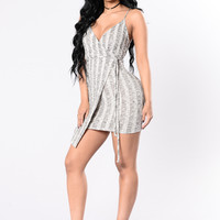 Best In The Wrap Game Dress - Heather Grey