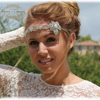 Bridal headband, rhinestone headband, Crystal headband, The great Gatsby hair jewelry- bridesmaid headband, 1920's jewelry