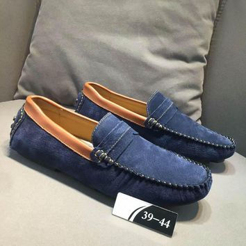 One-nice™ Fashion Man Casual suede leisure shoes H-CSXY