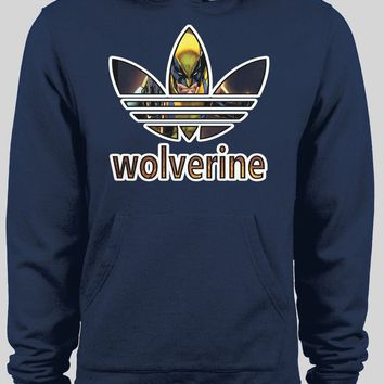 ADIDAS WOLVERINE MASH UP CUSTOM ART WINTER HOODIE