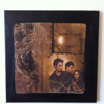 Twilight  Edward  Bella  Jacob Canvas Painting by litsakiv on Etsy