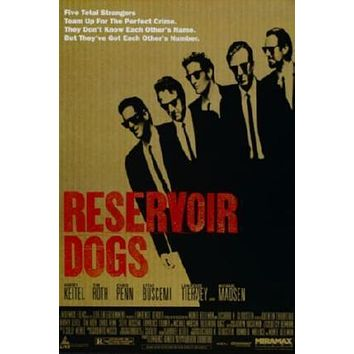 Reservoir Dogs Movie poster Metal Sign Wall Art 8in x 12in