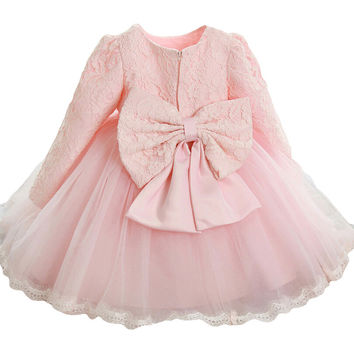 Toddler Girl Dress Summer Kids Costume Bow Lace Princess Dresses Flower Girl Dress for Wedding Party Girls Clothes vestidos