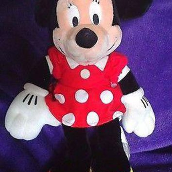 "17"" Original Disneyland Minnie Mouse Plush Original Red Polka Dot Dress"