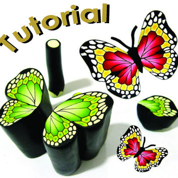 Tutorial -BUTTERFLY cane- polymer clay cane