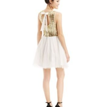 B Darlin Juniors' Sequin Tulle Skirt - Dresses - Juniors - Macy's