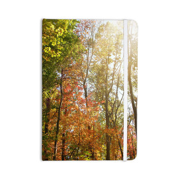 "Sylvia Coomes ""Autumn Trees 1"" Green Orange Everything Notebook"