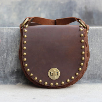 Handmade Leather Purse - Magic Pouch - Hip Bag - Full Grain Cow Hide Leather Bag - Bridesmaid Gift - Custom Orders