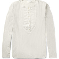 Oliver Spencer Bib-Front Cotton-Jersey T-Shirt | MR PORTER