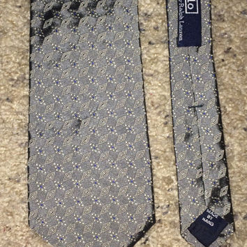Sale!! Vintage POLO RALPH LAUREN NeckTie Men's designer 100% Silk tie Made in Usa