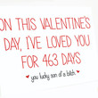 Customizable Valentine's Day Card - I've Loved You for XXX Days. Valentine Card. Funny Card.