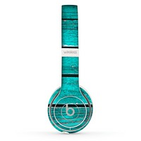 The Trendy Green Washed Wood Planks Skin Set for the Beats by Dre Solo 2 Wireless Headphones