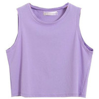 Candy Color Cotton Tank