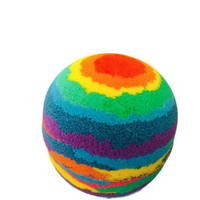 Rainbow Brite Bath Bomb- Lush, fizzy bath tub fun!