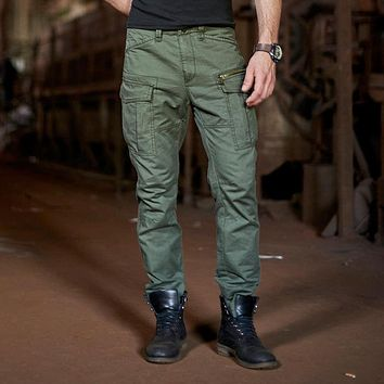 Cargo Pants For Men Loose Multi Pockets Military Trousers