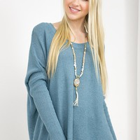 Oats & Honey Oversized Sweater | Sky Blue